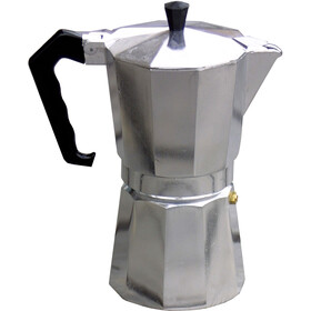Basic Nature Bellanapoli Cafetière à espresso 9 tasses, alu natur